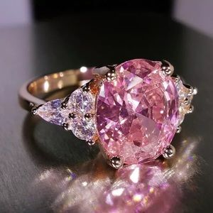 Jewelry - Caitlin Rose Gold Pink Sapphire Ring